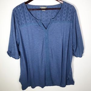Natural Reflections Blue Blouse XXL *Imperfect*